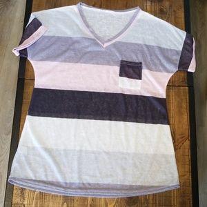 Tops - V neck striped shirt